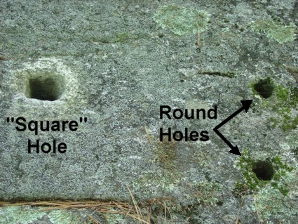 America's Stonehenge Historic Quarrying Drill Holes