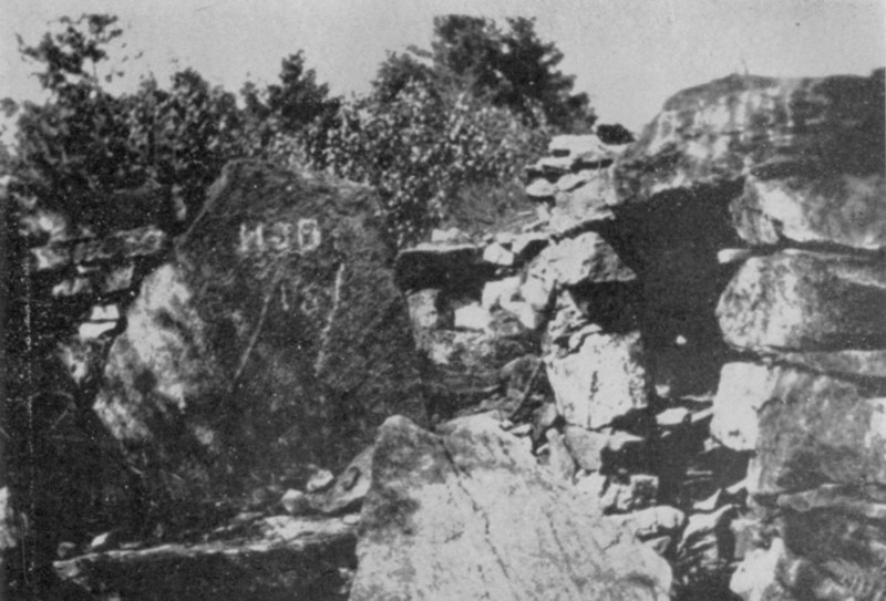 America's Stonehenge circa 1900 Photograph of Oracle Chamber Alcove Entrance